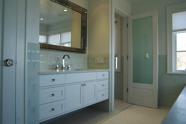 bathroom door glass